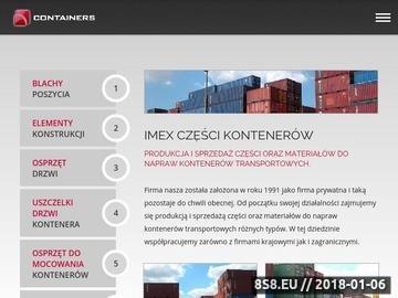 Zrzut strony Imex kontenery