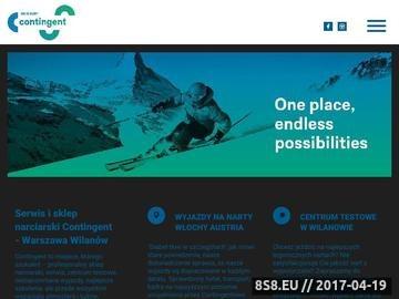 Zrzut strony Serwis i sklep ze sprzętem narciarskim