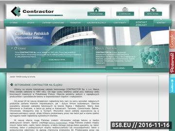 Zrzut strony Contractor - betoniarnia Katowice
