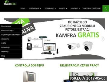 Zrzut strony ControlSYS - Rejestracja czasu pracy i kontrola dostępu