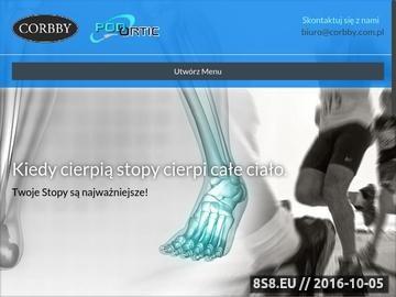 Zrzut strony Firma Corbby oferuje artykuły okołoobuwnicze