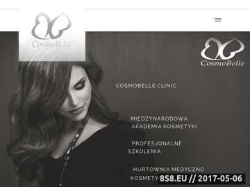 Zrzut strony Studium kosmetyczne Cosmobelle Tychy