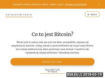 Zrzut strony Co to jest bitcoin