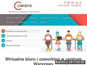 Zrzut strony Wirtualne biuro Warszawa oraz adres dla firmy