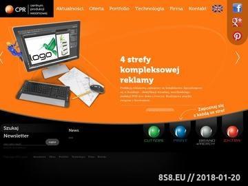Zrzut strony Centrum Produkcji Reklamowej