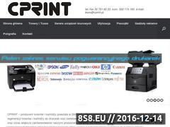 Miniaturka domeny www.cprint.pl