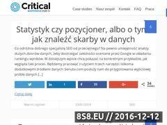 Miniaturka domeny critical.pl