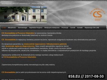 Zrzut strony Stomatolog Pruszcz Gdański