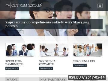 Zrzut strony Szkolenia HR