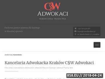 Zrzut strony CSWadwokaci.pl - adwokat KrakóW rozwód