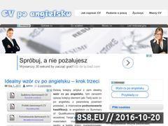 Miniaturka CV po angielsku - wzory angielskich CV (cvpoangielsku.com.pl)