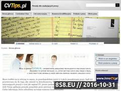 Miniaturka domeny www.cvtips.pl