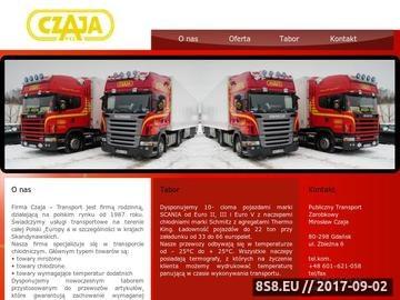 Zrzut strony Publiczny transport zarobkowy Mirosław Czaja transport mięsa