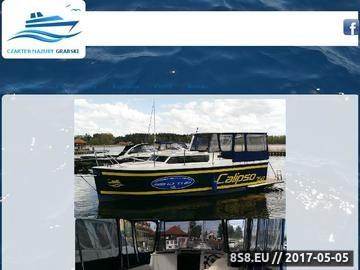Zrzut strony Czarter Jachtów Mazury Dariusz Grabski