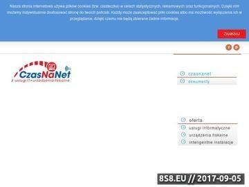 Zrzut strony CZasNaNet Twój partnet z Branży IT