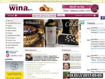 Zrzut strony Blog wino