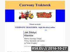Miniaturka domeny www.czerwonytraktorek.pl