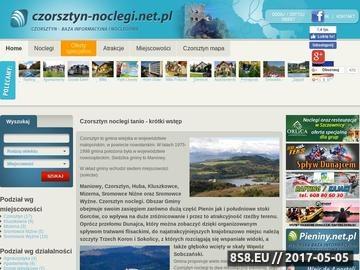Zrzut strony Czorsztyn baza noclegowa