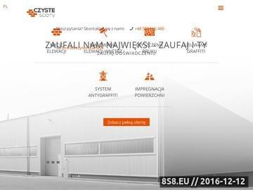 Zrzut strony Czyste Ściany - firma sprzątająca z Krakowa