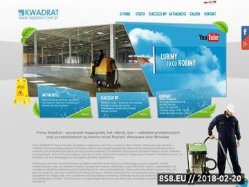 Zrzut strony KWADRAT - firma sprzątająca