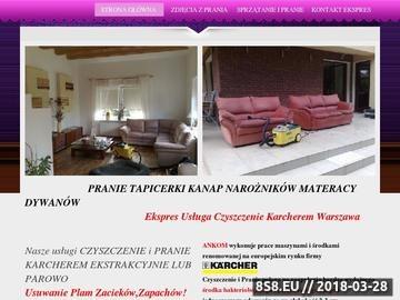 Zrzut strony Pranie Warszawa - Ankom