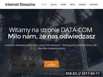 Zrzut strony DATA-COM Piotr Data - Internet Telewizja Telefon - Home Page