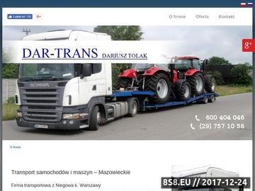 Zrzut strony DAR-TRANS transport drogowy