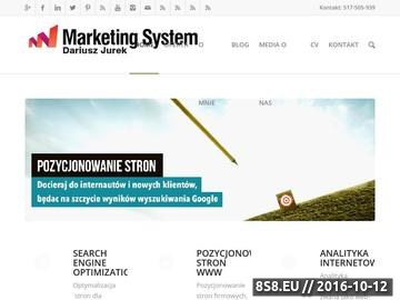 Zrzut strony Marketing System - Search Engine Optimization