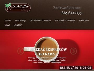 Zrzut strony Profesjonalny serwis ekspresów do kawy