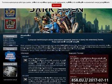 Zrzut strony Nieoficjalna strona gry karcianej Dark Eden