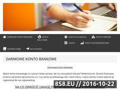 Miniaturka Porównywarka usług finansowych (darmowekontobankowe.org)