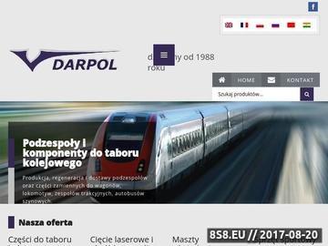 Zrzut strony DarPol Bydgoszcz - laserowe cięcie metali oraz produkcja i usługi dla kolejnictw