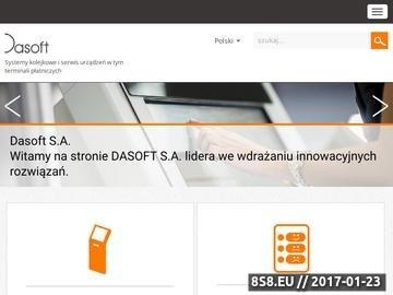 Zrzut strony Dasoft - systemy kolejkowe i terminale płatnicze
