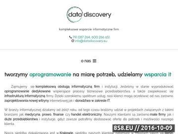 Zrzut strony DataDiscovery - tworzenie oprogramowania