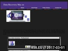 Thumbnail of Data recovery - Mac Restore - download software Website