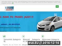 Miniaturka domeny dazar.prawojazdy.com.pl