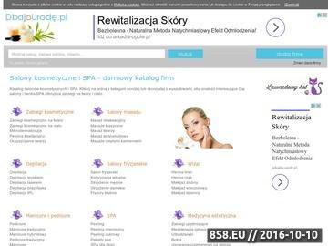 Zrzut strony Salony fryzjerskie, kosmetyczne i SPA - darmowy katalog