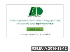 Miniaturka domeny www.dcperfectcard.com.pl