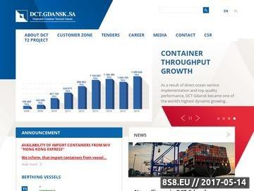 Zrzut strony DCT Gdańsk SA