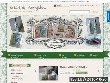 Zrzut strony Artkuły do decoupage, gotowe produkty