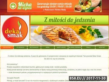 Zrzut strony Dekasmak.pl - Smacznie i tanio!