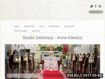 Zrzut strony Dekoracje i alejki ślubne - Anna Klewicz