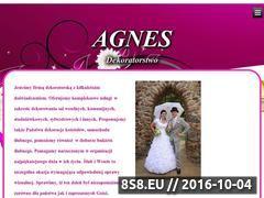 Miniaturka domeny www.dekoratorstwo-agnes.pl