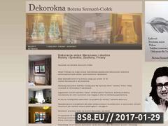 Miniaturka domeny www.dekorokna.com.pl