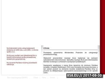 Zrzut strony Dekret Consulting - usługi księgowe Kraków