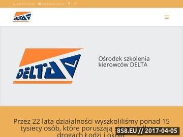 Zrzut strony Szkoła jazdy w Łodzi