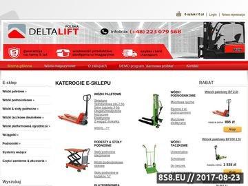 Zrzut strony Wózki magazynowe oraz sprzęt magazynowy Deltalift