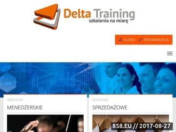 Zrzut strony SZKOLENIA DELTA TRAINING: praktyczne i skuteczne szkolenia biznesowe