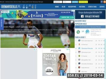 Zrzut strony Olympique Marsylia