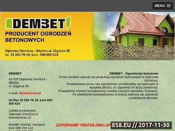 Zrzut strony DEMBET transport ogrodzeń betonowych